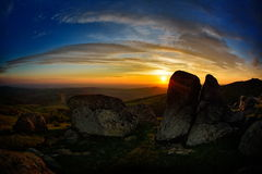 Landscape at sunset in spring Royalty Free Stock Image