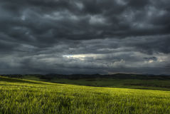 Landscape. Of a sunset before the storm Royalty Free Stock Images