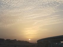 Landscape sunset royalty free stock photography