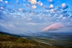 Landscape at sunset/sunrise -  Dobrogea, Romania Stock Image