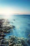 Landscape sunset or sunrise on the sea Royalty Free Stock Images