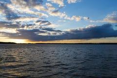 Landscape after sunset Royalty Free Stock Image