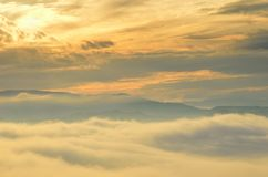 Landscape at sunset Royalty Free Stock Image
