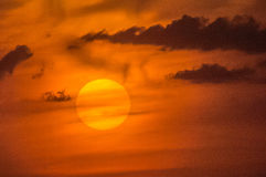 Landscape at sunset royalty free stock photo