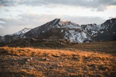 Landscape, sunset view at Independence Pass near Aspen, Colorado. Landscape, sunset view of the mountains at Independence Pass near Aspen, Colorado stock photography