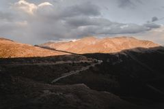 Landscape, sunset view at Independence Pass near Aspen, Colorado. royalty free stock image