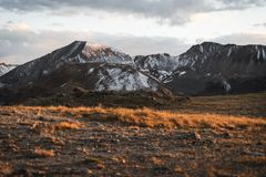 Landscape, sunset view at Independence Pass near Aspen, Colorado. Landscape, sunset view of the mountains at Independence Pass near Aspen, Colorado royalty free stock photos