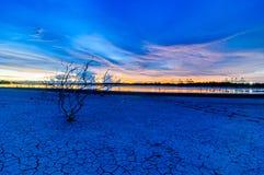 Landscape Sunset view at sea Laemchabang Port Royalty Free Stock Photos