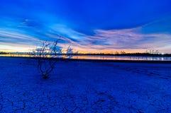 Landscape Sunset view at sea Laemchabang Port Royalty Free Stock Photography