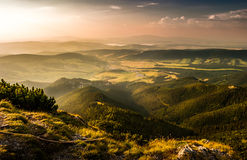 Landscape at sunset royalty free stock photos