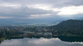 Landscape surrounding Bled Lake in Slovenia Royalty Free Stock Photo