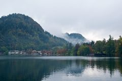 Landscape surrounding Bled Lake in Slovenia Stock Images