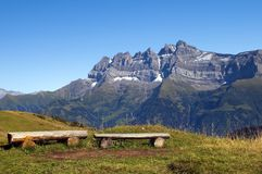 Landscape in the Swiss Alps Royalty Free Stock Photos
