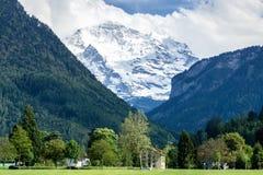 Landscape Swiss Alps from Interlaken Switzerland Stock Photo