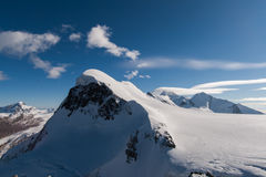 Landscape of swiss Alps and mount Breithorn, Canton of Valais. Switzerland Stock Photo