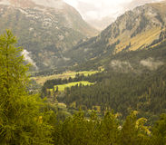 Landscape at the Swiss Alps Royalty Free Stock Photos