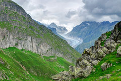 Landscape in the Swiss alps Royalty Free Stock Image