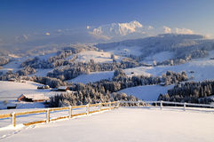 Landscape in Switzerland Royalty Free Stock Images