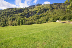 Landscape in Switzerland. In Spring Royalty Free Stock Photo