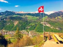Swiss Alps view. Landscape in Switzerland royalty free stock photo