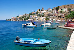 Landscape of the Symi Town Royalty Free Stock Photos