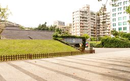 Landscape Taichung military dependants village in Taiwan. Taiwan - Apr 15, 2017, Editorail use only; Landscape Taichung military dependants village in Taiwan stock photo