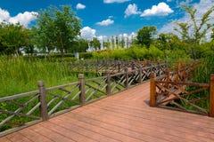 The landscape of Taihu lake. Wuxi, China stock image