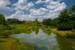 The landscape of Taihu lake. Wuxi, China stock photo