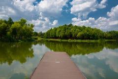 The landscape of Taihu lake. Wuxi, China royalty free stock photography