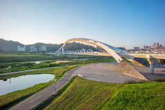 Landscape of taipei. Xindian Sunshine Sports Park in taipei city Royalty Free Stock Photography