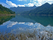 Landscape of Taiwanese Mountain & Lake Royalty Free Stock Photos