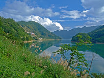 Landscape of Taiwanese Mountain & Lake Stock Photography