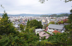 Landscape of Takayama town from the top. In Japan Stock Photography
