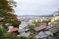 Landscape of Takayama town from the top. In Japan Stock Image