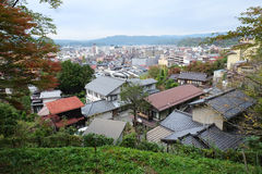 Landscape of Takayama town from the top Royalty Free Stock Photo