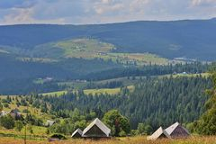 Landscape taken from Dealu Botii of the Belis lake and its surroundings. Stock Images