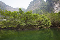 Landscape of Tam Coc national park Royalty Free Stock Photo