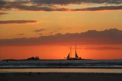 Sunset in Tamarindo Stock Photography