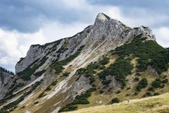 Landscape Tannheimer Tal Austria. Image landscape of the Tannheimer Tal in Austria, Europe Royalty Free Stock Photo