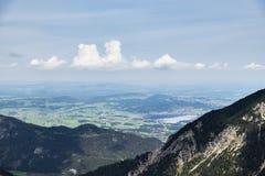 Landscape Tannheimer Tal Austria. Image mountains near Nesselwaengle of the Tannheimer Tal in Austria, Europe Royalty Free Stock Photo