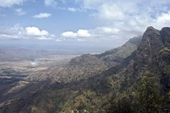 Landscape, Tanzania. View from the Usambara mountains into the plains, Tanzania royalty free stock image
