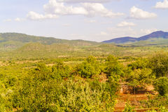 Landscape in Tanzania. Landscape view at the rural area by the the road from Arusha to Babati stock photos