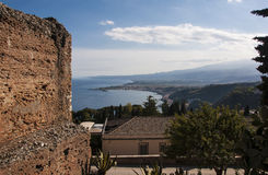 Landscape from Taormina Stock Images