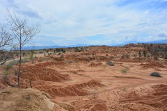Landscape of the Tatacoa desert, in Neiva, Colombia. Landscape of the Tatacoa desert, one of the touristic destinations in Colombia royalty free stock photos