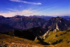 Landscape of the Tatra Mountains stock images