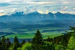 Landscape of Tatra mountains range stock image