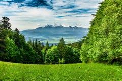 Landscape of Tatra mountains range royalty free stock images