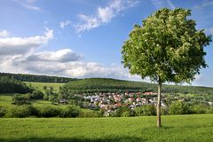 Landscape in the Taunus mountains Royalty Free Stock Images