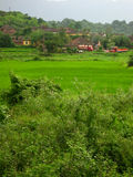 landscape technicolor village 图库摄影
