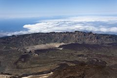 Landscape from Teide peak in Tenerife Royalty Free Stock Photos